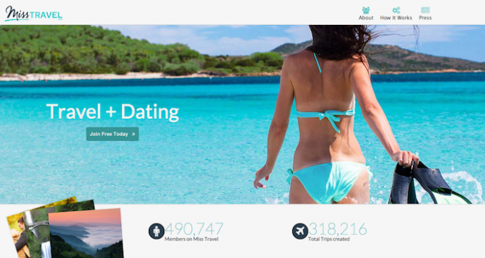 Miss Travel, the dating site where girls travel for free