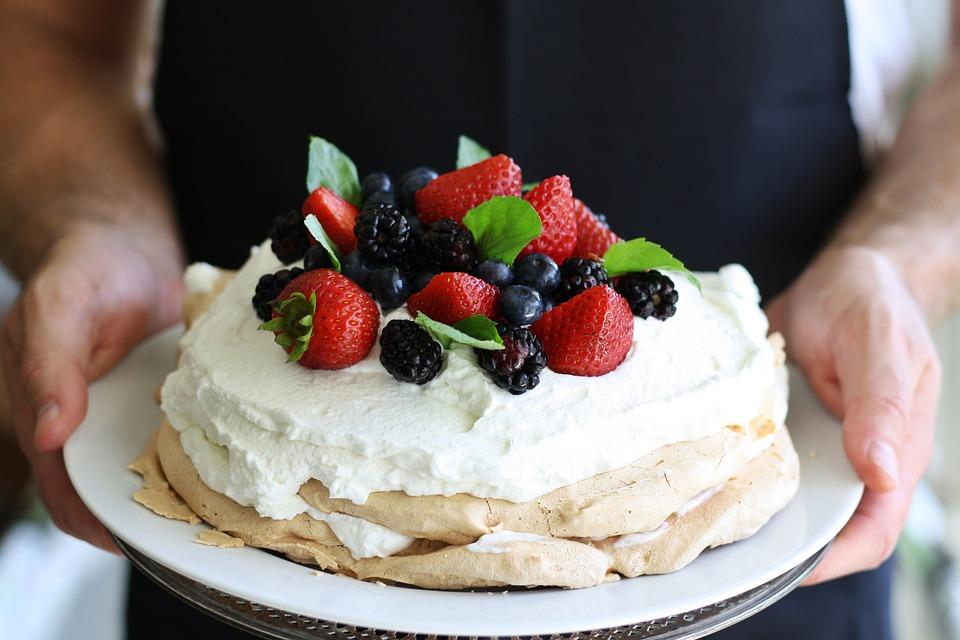 cake and strawberry to flirt